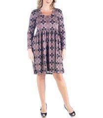 women's plus size empire waist pleated dress