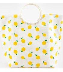caroline lemon tote - yellow