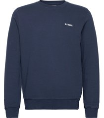 essential logo crewneck navy sweat-shirt trui blauw bls hafnia