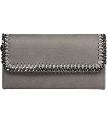 stella mccartney falabella continental flap wallet