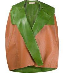 marni hooded cape - orange