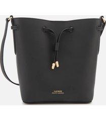 lauren ralph lauren women's dryden debby ii drawstring mini bag - black/crimson