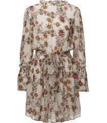 jonquil floral dress korte jurk crème hunkydory