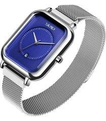 relojes de mujer correa de malla de lujo reloj de cuarzo vestido pulsera