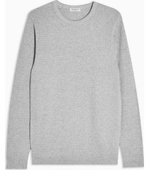 mens grey selected homme gray knitted organic cotton sweatshirt