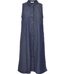 dhcala dress kort klänning blå denim hunter