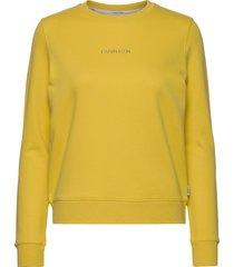 ls 3d metallic logo hwk sweat-shirt tröja gul calvin klein