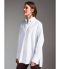 lange blouse 100% katoen van louis and mia wit