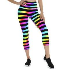 k-deer women's striped capri tights