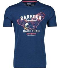 barbour t-shirt heren donkerblauw geprint