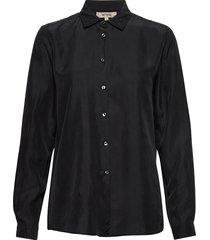 karolina washed silk blouse lange mouwen zwart whyred