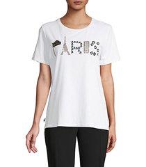 paris embellished graphic t-shirt