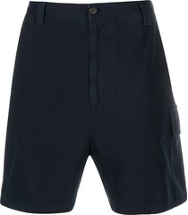 acne studios flap pocket bermuda shorts - blue