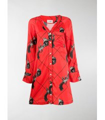 kirin gun print shirt dress
