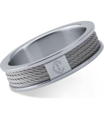 charriol women's forever stainless steel cable ring