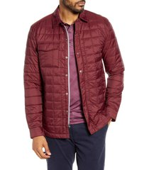 men's cutter & buck rainier primaloft insulated shirt jacket, size xxx-large - red