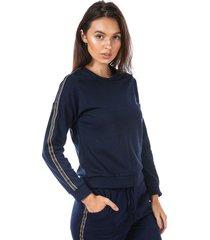 womens sweatshirt with side stripe