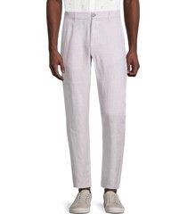 saks fifth avenue men's flat-front linen pants - chateau grey - size xxl