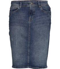 skirts denim knälång kjol blå edc by esprit