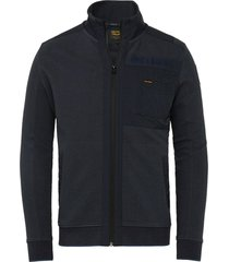 vest ottoman blauw