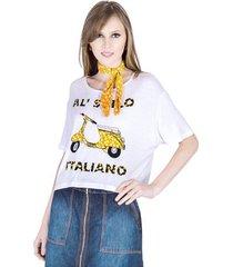 t-shirt cropped cantão