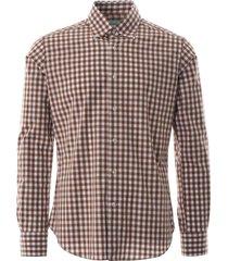 oxford shirt check - brown notabrz-brn