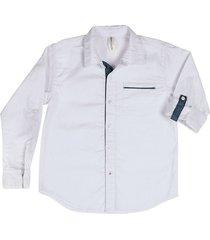 camisa maxi manga larga bco