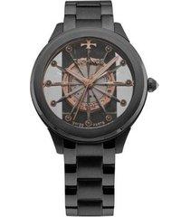 relógio feminino technos elegance f03101ac/4w aço
