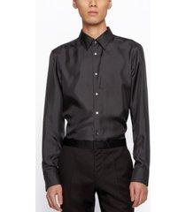 boss men's iros slim-fit silk shirt