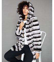 the fur vault reversible rabbit fur coat