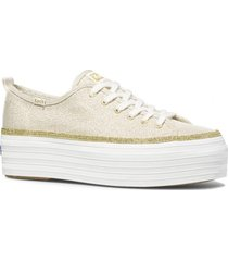 zapatilla triple up metallic twill dorado keds