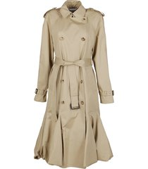 j.w. anderson beige cotton trench coat