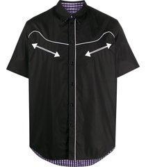 martine rose reversible short-sleeved shirt - black