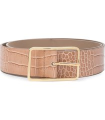 b-low the belt embossed croc-effect belt - pink