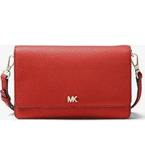 mk borsa a tracolla convertibile in pelle martellata - arancio ramato (arancio) - michael kors