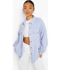 oversized blouse met corduroy zakken, lilac