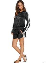 shorts curto com amarração liso murano preto p