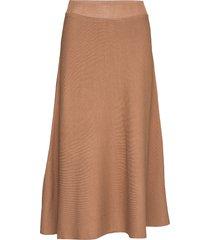 celina skirt knälång kjol brun cream
