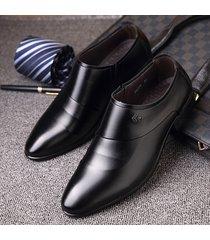 scarpe formali slip-on in pelle microfibra