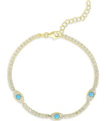 chloe & madison women's crystal tennis bracelet