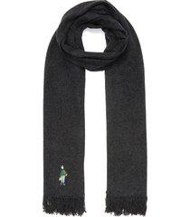 slowboy embroidered scarf