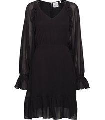 kirsten solid jurk knielengte zwart line of oslo