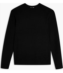 mens black textured sweater