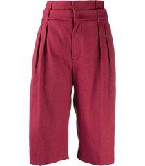 brunello cucinelli high-rise wide-leg bermuda shorts - pink