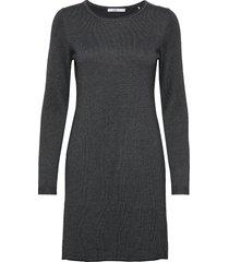 dresses flat knitted kort klänning grå edc by esprit