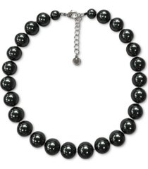 """charter club silver-tone colored imitation pearl collar necklace, 17"""" + 2"""" extender, created for macy's"""