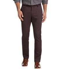 joseph abboud burgundy modern fit casual pants