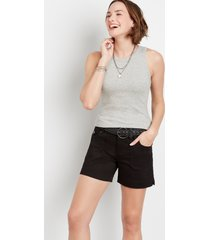 maurices womens black braided belt 5in shorts by blue planet