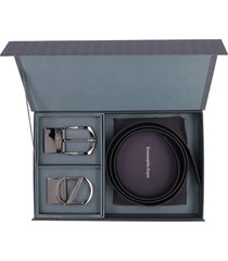 z zegna leather belt with two buckles