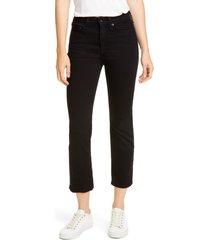 rag & bone nina high waist ankle cigarette jeans, size 30 in black at nordstrom